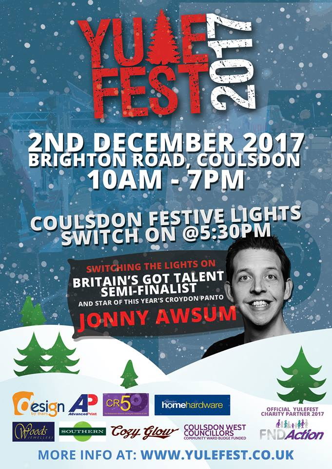 FND Action join Coulsdon's Yulefest 2017 Christmas Festival as Official Charity Partner