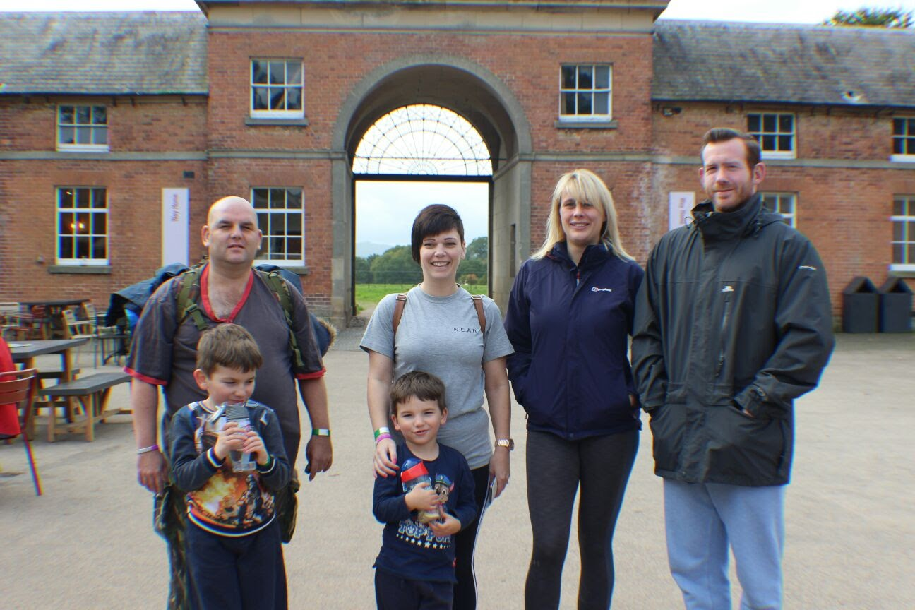 Jenny and her team walk around Attingham National Trust Park in aid of raising awareness of NEAD