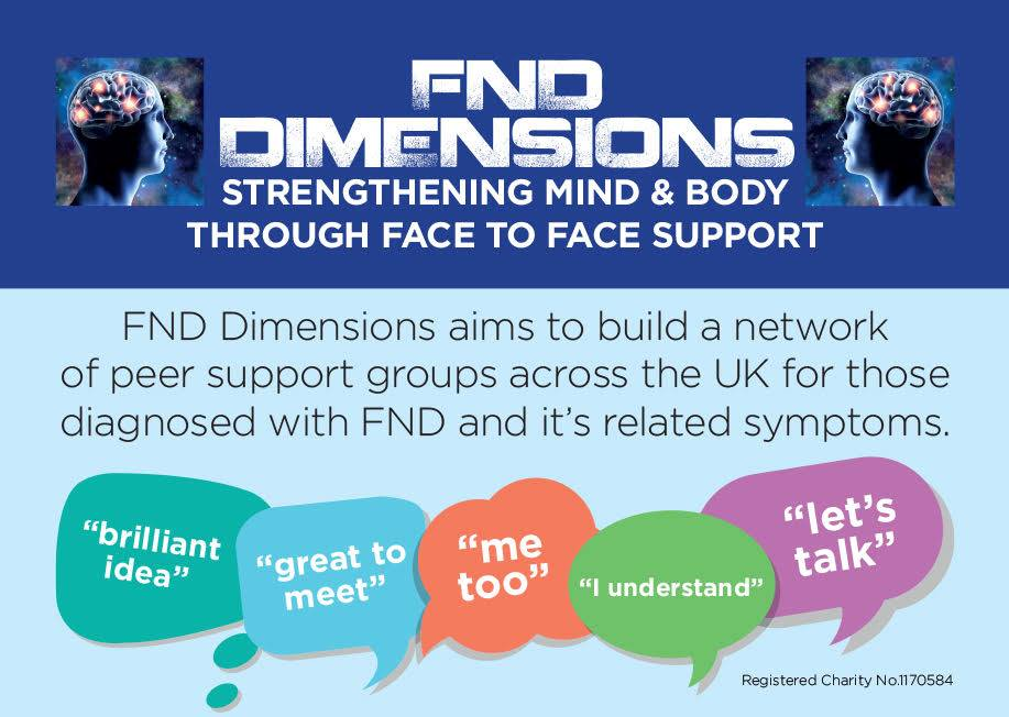 FND support groups can be vital to a person's recovery – in support of the charity FND Dimensions